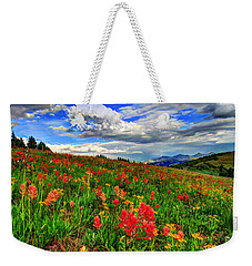 The Art Of Wildflowers Weekender Tote Bag by Scott Mahon