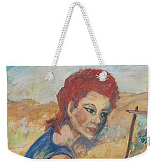 Weekender Tote Bag featuring the painting The Artist by Avonelle Kelsey
