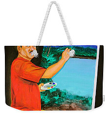 Weekender Tote Bag featuring the painting The Artist by Cyril Maza