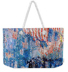 The Avenue In The Rain Weekender Tote Bag
