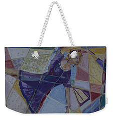 Weekender Tote Bag featuring the painting The Ballerina  by Avonelle Kelsey