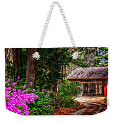 The Barn In Spring Weekender Tote Bag