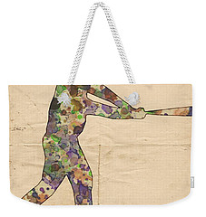 The Baseball Player Weekender Tote Bag by Florian Rodarte