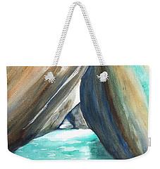The Baths Turquoise Weekender Tote Bag by Carlin Blahnik