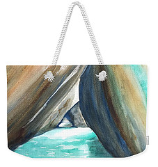 The Baths Turquoise Weekender Tote Bag