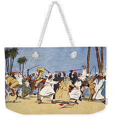 The Battle Of The Nile, From The Light Weekender Tote Bag by Lance Thackeray
