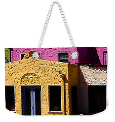 Weekender Tote Bag featuring the photograph The Beach House by Jim Thompson