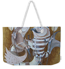 Weekender Tote Bag featuring the painting The Beach by Marina Gnetetsky