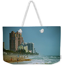 The Beach Near Fort Lauderdale Weekender Tote Bag by Eric Tressler