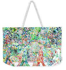 The Beatles - Abbey Road - Watercolor Painting Weekender Tote Bag