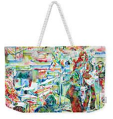 The Beatles Rooftop Concert - Watercolor Painting Weekender Tote Bag