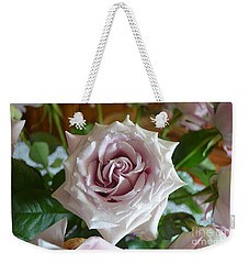 The Beauty Of A Flower Weekender Tote Bag by Jim Fitzpatrick