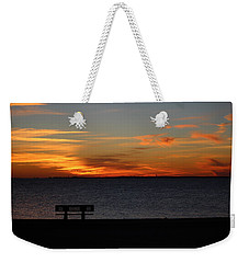 Weekender Tote Bag featuring the photograph The Bench by Faith Williams
