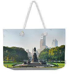 Weekender Tote Bag featuring the photograph The Benjamin Franklin Parkway - Philadelphia Pennsylvania by Bill Cannon