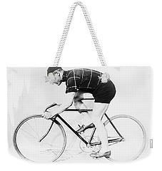 The Bicyclist - 1914 Weekender Tote Bag
