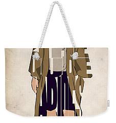 The Big Lebowski Inspired The Dude Typography Artwork Weekender Tote Bag by Ayse Deniz