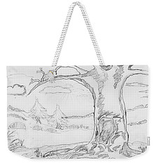Weekender Tote Bag featuring the painting The Big Oak  by Felicia Tica