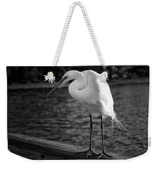 Weekender Tote Bag featuring the photograph The Bird by Howard Salmon
