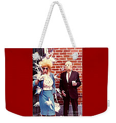 New Orleans The Birds And Alfred Hitchcock Mardi Gras Day In The French Quarter In Louisiana Weekender Tote Bag