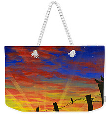 The Birds - Red Sky At Night Weekender Tote Bag by Jack Malloch