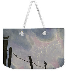 The Birds - Watching The Show Weekender Tote Bag by Jack Malloch