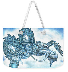 The Blue Dragon Weekender Tote Bag by Troy Levesque