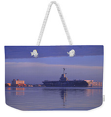 The Blue Ghost Weekender Tote Bag by Leticia Latocki