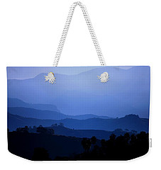 Weekender Tote Bag featuring the photograph The Blue Hills by Matt Harang