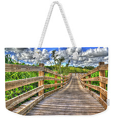Weekender Tote Bag featuring the photograph The Boardwalk by Paul Wear
