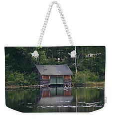 The Boat House On Mt Chocorua Lake Weekender Tote Bag by Denyse Duhaime