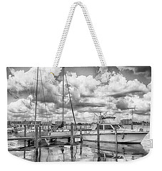 Weekender Tote Bag featuring the photograph The Boat by Howard Salmon
