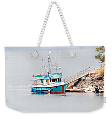 Weekender Tote Bag featuring the photograph The Boat by Jim Thompson
