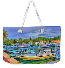 The Boats Of Hautulco Weekender Tote Bag