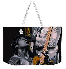 Bruce Springsteen And Clarence Clemons Weekender Tote Bag by Thomas J Herring
