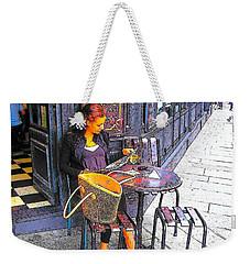 The Brasserie In Paris Weekender Tote Bag by Jan Matson