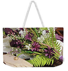 Weekender Tote Bag featuring the photograph The Bride To Be by Cynthia Guinn