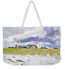 The Brown House On East Beach Weekender Tote Bag by Joan Hartenstein