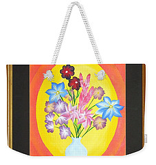 Weekender Tote Bag featuring the painting The Bud Vase by Ron Davidson