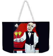Weekender Tote Bag featuring the painting The Butler  by Nora Shepley