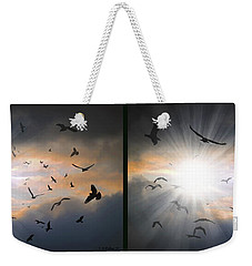 The Call - The Caw - Gently Cross Your Eyes And Focus On The Middle Image Weekender Tote Bag