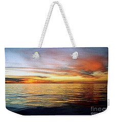 Weekender Tote Bag featuring the photograph Gulf Of Mexico The Calm Before Hurricane Katrina Off The Coast Of Louisiana by Michael Hoard