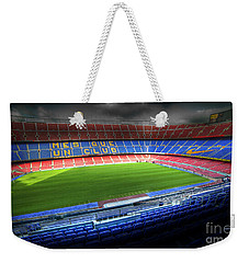 The Camp Nou Stadium In Barcelona Weekender Tote Bag