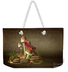 The Cardinal Weekender Tote Bag by Davandra Cribbie