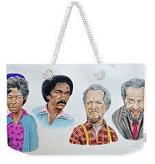 The Cast Of Sanford And Son  Weekender Tote Bag by Jim Fitzpatrick