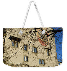 Weekender Tote Bag featuring the photograph The Castle Greets A Sunny Day by Felicia Tica