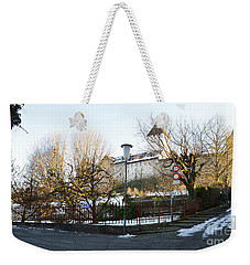 Weekender Tote Bag featuring the photograph The Castle In Winter Light by Felicia Tica