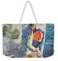 The Catch Weekender Tote Bag by Marilyn Jacobson