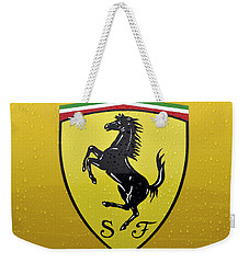 The Cavallino Rampante Symbol Of Ferrari Weekender Tote Bag