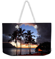 Weekender Tote Bag featuring the photograph The Center Of The Storm by Lynn Bauer