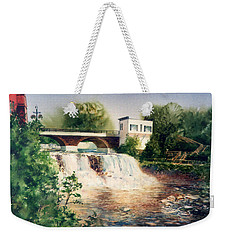 The Chagrin Falls In Summer Weekender Tote Bag
